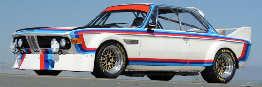 The Batmobile BMW 3.0 CSL, one of the most popular racing cars